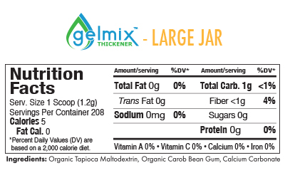 Gelmix Thickener Nutrition Facts